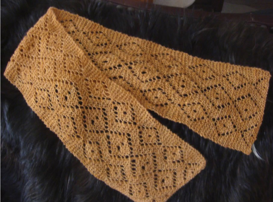 Dots-n-Spots Lace Scarf