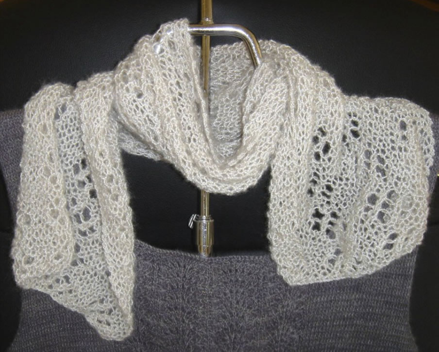Flowers in Lace Scarf