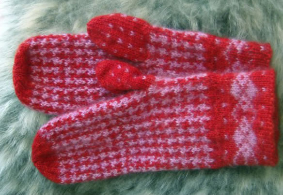 Hounds Tooth Mittens